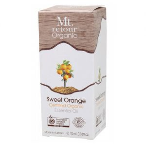 Mt Retour Sweet Orange Certified Organic Essential Oil 10ml