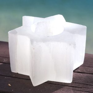 Star Selenite Tealight Candle Holder