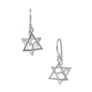 Merkaba Earrings Sterling Silver Petite