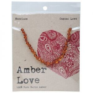 Amber Love Child Necklace Cognac Love