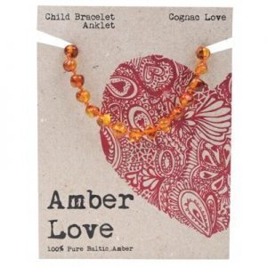 Amber Child Bracelet Anklet Cognac Love