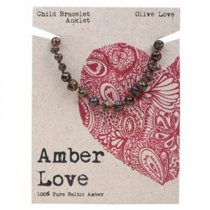 Amber Love Child Bracelet Anklet Olive Love