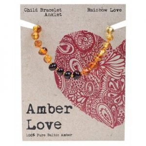 Amber Child Bracelet Anklet Rainbow Love