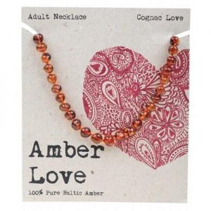 Amber Love Adult Necklace Cognac Love