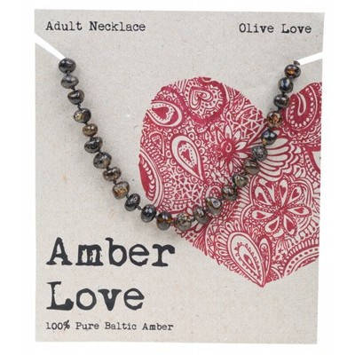 Amber Love Adult Necklace Olive Love