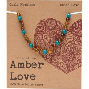Amber Love Child Necklace Ocean Love