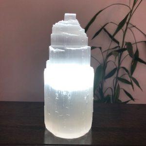 Iceberg White Selenite Lamp Small