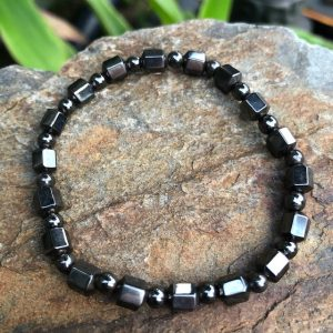 Barrel & Bead Magnetic Hematite Bracelet