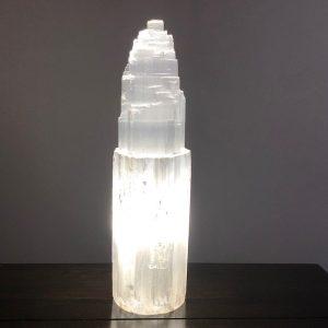Large Selenite Iceberg Lamp