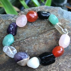 Mixed Tumbled Crystal Bracelet
