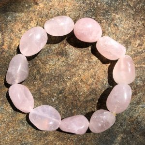 Rose Quartz Tumbled Crystal Bracelet
