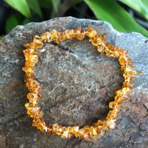 Citrine Crystal Chip Bracelet Q1A
