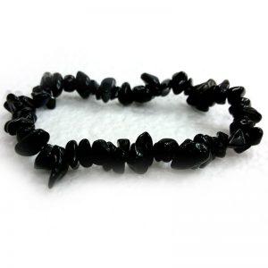 Black Obsidian Crystal Chip Bracelet