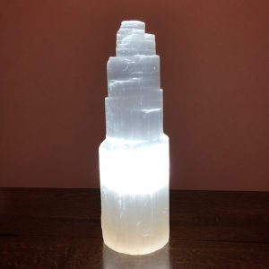 Selenite Tower Lamp Medium