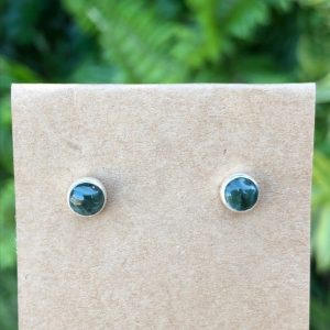 Seraphenite Stud Earrings Sterling Silver