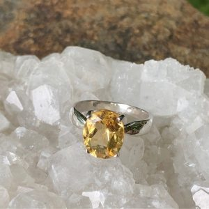 Citrine Gigi Ring Sterling Silver