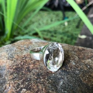 Clear Quartz Ring Sterling Silver