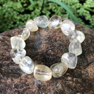 Lemon Citrine Tumbled Crystal Bracelet