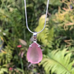 Rose Quartz Pendant Sterling Silver