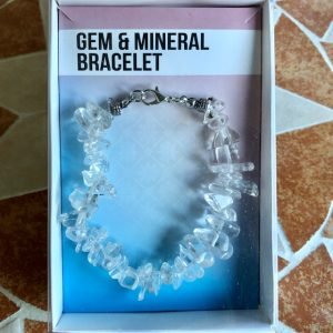 Rock Quartz Gemstone Bracelet