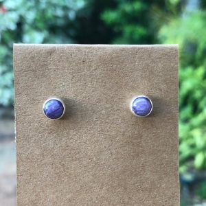 Charoite Stud Earrings RE-250