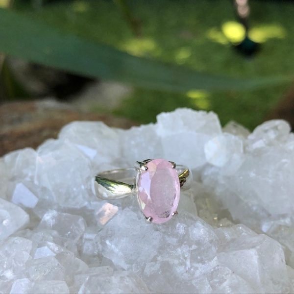 Morganite Ring Sterling Silver