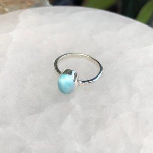 Larimar Ring Sterling Silver