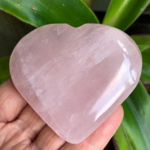 Rose Quartz Crystal Heart 6.5cm