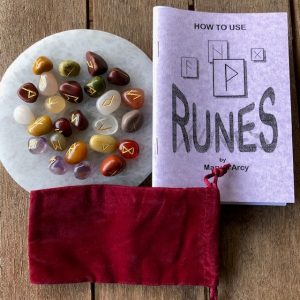 Rune Set with Velvet Pouch, Book & Gift Tag