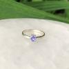 Tanzanite Ring Sterling Silver