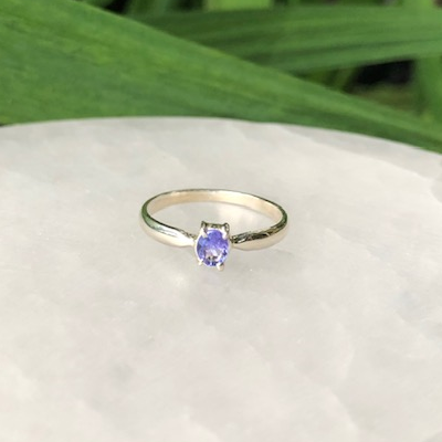 Tanzanite Ring Sterling Silver