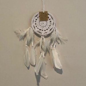 Dream Catcher CROCHET WHITE Small 12cm