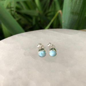 E2542 LARIMAR Stud Earrings