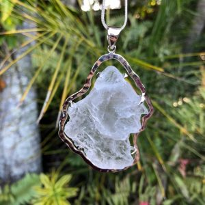 Selenite Pendant No. 2 Sterling Silver