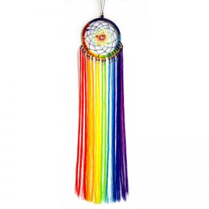 Small Dream Catcher Rainbow String