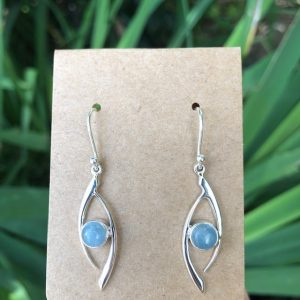 Aquamarine Earrings Sterling Silver E-2625