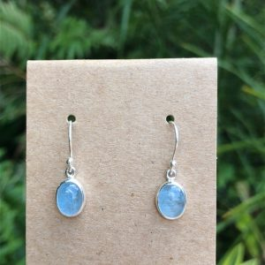 Aquamarine Earrings Sterling Silver E-2630
