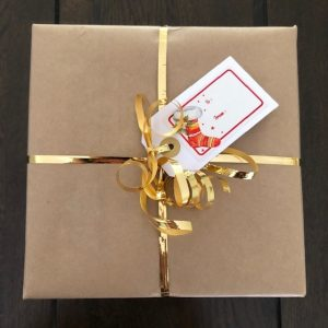 Christmas Gift Wrapping with Gift Tag