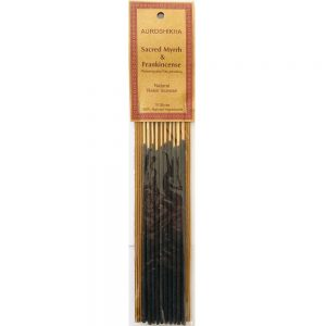 Auroshikha Natural Resin MYRRH & FRANKINCENSE 10 Stick