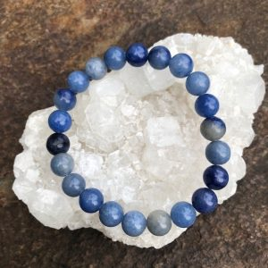 Blue Aventurine Crystal Bead Bracelet 8mm