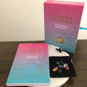 Chakra Crystals – Heal your soul, Transform your life Book, 7 Crystals and Pouch