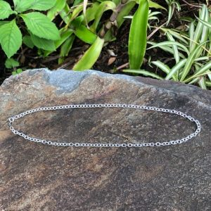 Oval Link Chain Sterling Silver - Robust 50cm