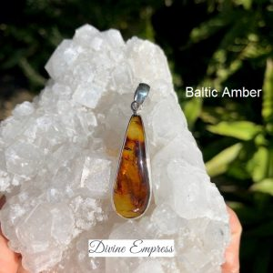 Baltic Amber Pendant No. P-8114 Sterling Silver