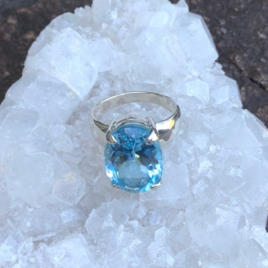 Blue Topaz Ring No. R-5808 Sterling Silver