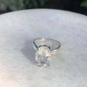 Clear Quartz Ring No. R-5804 Sterling Silver