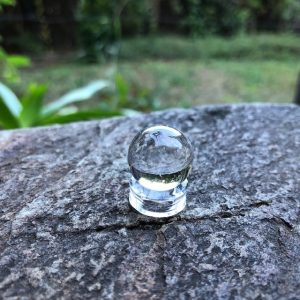Clear Quartz Sphere – Mini with Stand