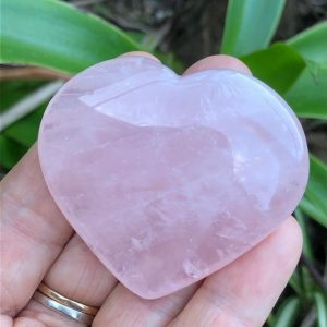 Rose Quartz Crystal Heart 5.5cm - 6cm
