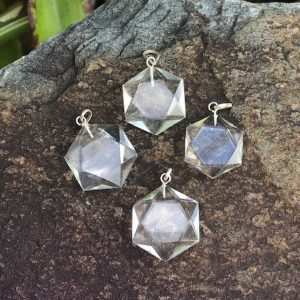 Star of David Clear Quartz Pendant