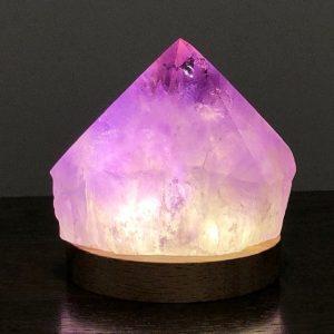 Amethyst Semi Polished Point 286 Crystal Lamp USB