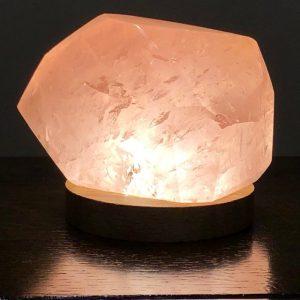 Rose Quartz Faceted Polished 375 Crystal Lamp USB